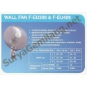 "Wall Fan Panasonic 16"" F-EU309"
