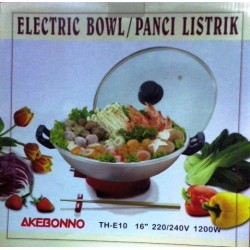 Electric Bowl Panci Listrik Shabu-Shabu Akebonno Multiguna TH-E10