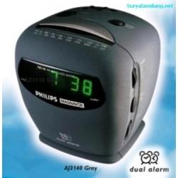 Alarm Radio Philips AJ3140 Dua Alarm Asli, Baru, Garansi Resmi