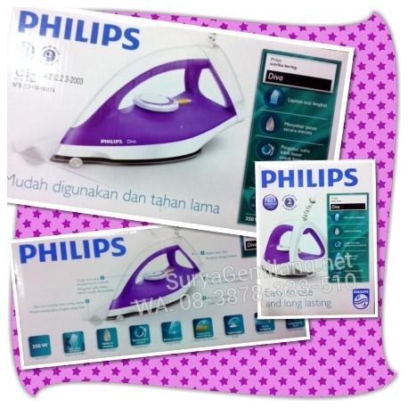 Strika Philips GC122 Dry Iron Model Baru Ungu Menawan