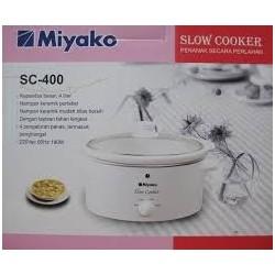 Slow Cooker 4liter Miyako SC400 Lonjong Asli, Baru, Garansi Resmi