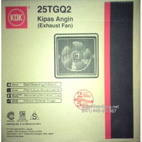 Exhaust Fan Plafond KDK 25TGQ 10 inch Asli, Baru, Garansi Resmi