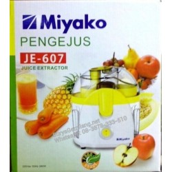 Juicer Miyako JE607 Pengejus Praktis Asli, Baru, Garansi Resmi