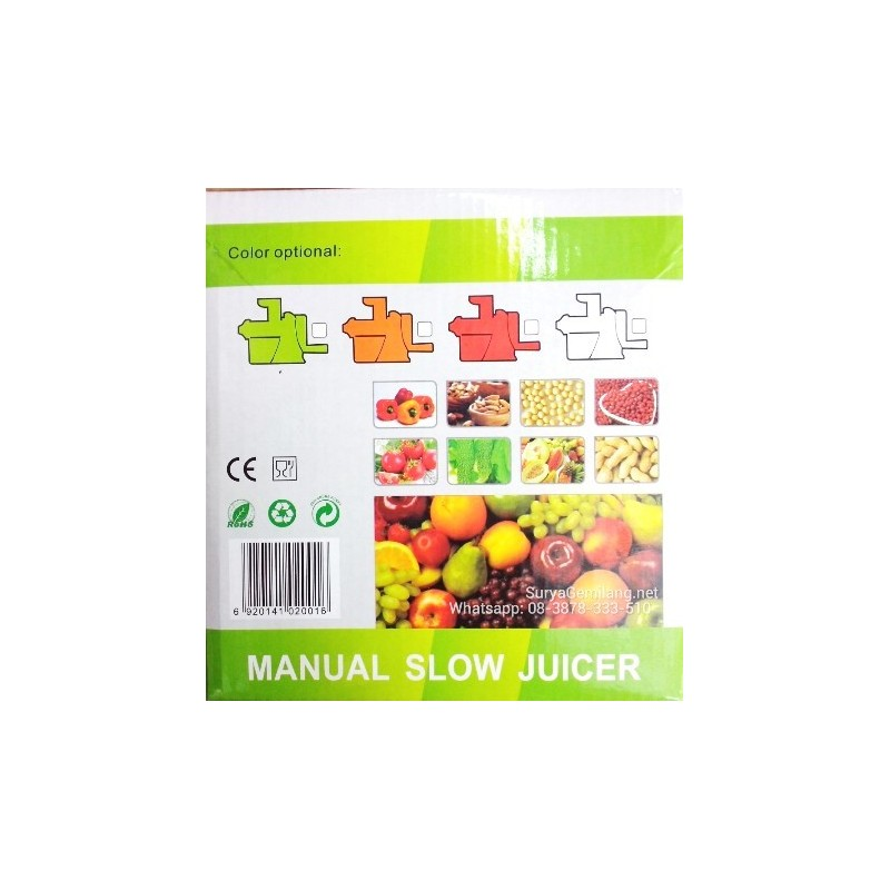 Panasonic Slow Juicer Manual : Slow Juicer Manual Dodawa Asli dan Baru - Surya Gemilang
