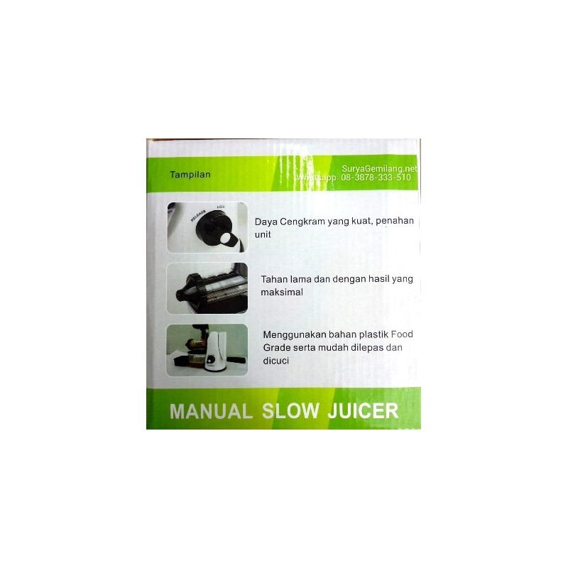Slow Juicer Manual Murah : Slow Juicer Manual Dodawa Asli dan Baru - Surya Gemilang