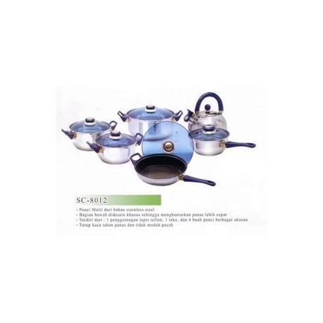 Panci Set Airlux SC8012 Stainless Asli dan Baru, Cocok untuk Hadiah