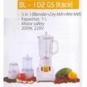 Blender Miyako Beling BL-102GS 3in1 Ekonomis Asli, Baru, Garansi Resmi
