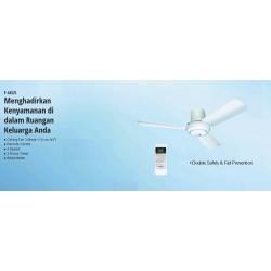 "Panasonic Ceiling Fan 44"" Remote F44SZL Sleep Mode Putih Asli dan Baru dan Garansi Resmi"