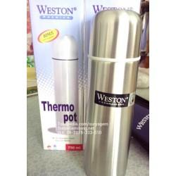 Weston Vacuum Flask 750ml Termos Stainless Panas Dingin Asli dan Baru