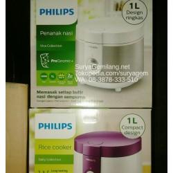 Philips Rice Cooker HD3126 Silver Putih Ekonomis Small Family Ori, Asli Baru, Garansi Resmi